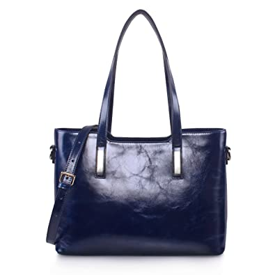 Yafeige Women s Handbags Vintage Genuine Leather Shoulder Bags Tote Cross  Body Bags Purse for Ladies( 52cf593e71