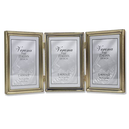 Amazon Lawrence Frames Antique Brass 4x6 Hinged Triple Picture