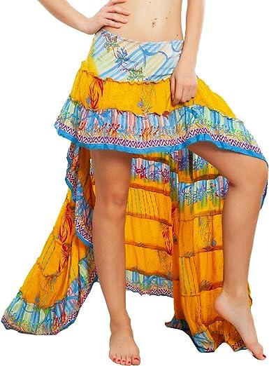Toocool – Falda de mujer asimétrica Coda Ibiza Fantasía india ...