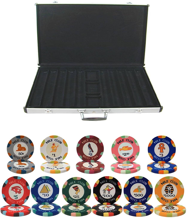 ナイルクラブセラミック粘土10 B00WL0Y58K gm Chip gm 1000 Chip Pokerセットwith Aluminumケース B00WL0Y58K, Kimono-Shinei 2号店:0f3190de --- itxassou.fr