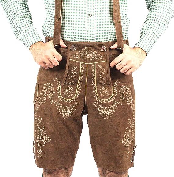 Oktoberfest Bavarian Lederhosen Costume Men Traditional Authentic German Outfit