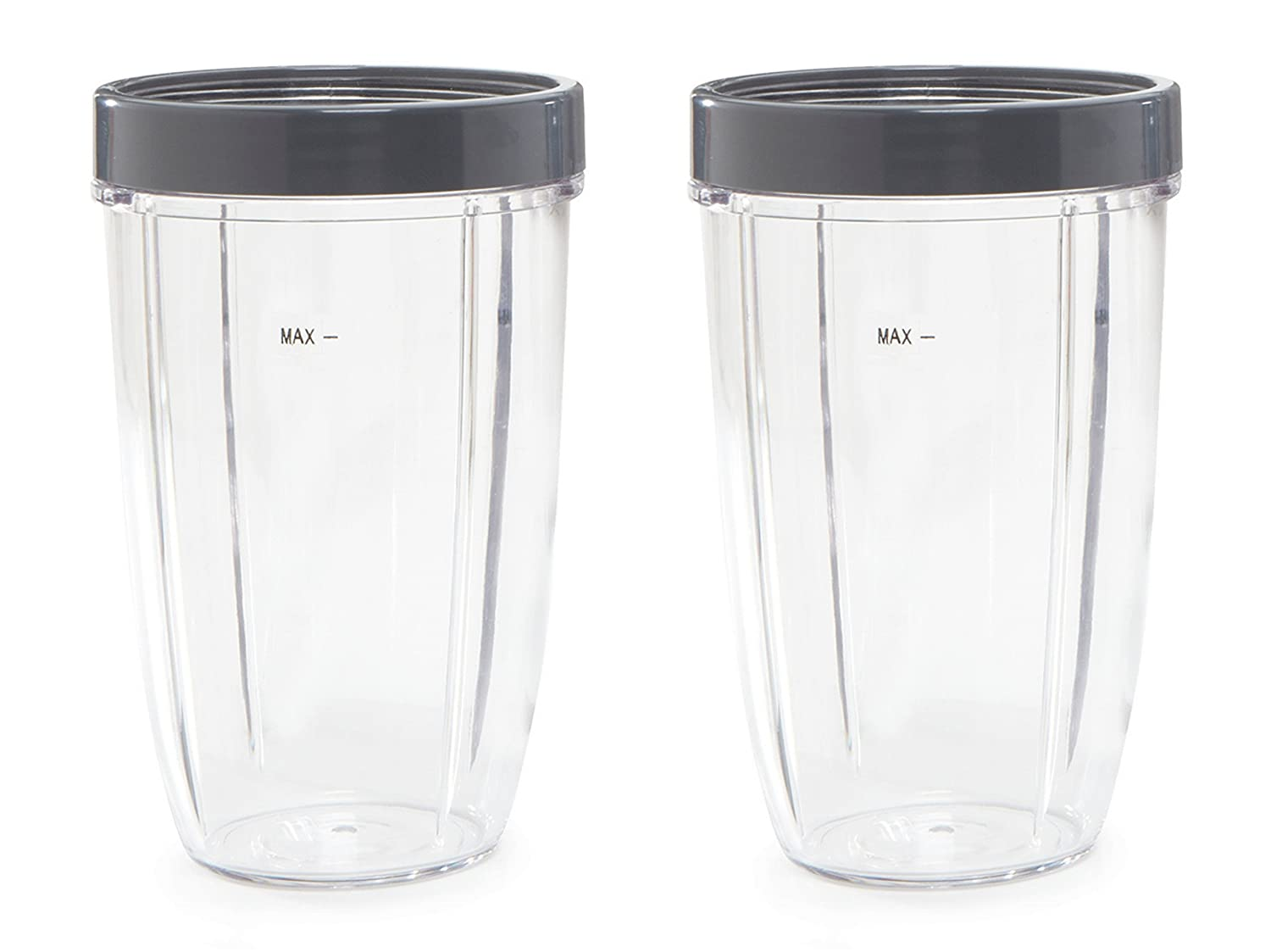 24 oz NutriBullet Replacement Cups with Screw off Lip Ring   Compatible with NutriBullet 600w and Pro 900 Blenders (Set of 2) by Preferred Parts