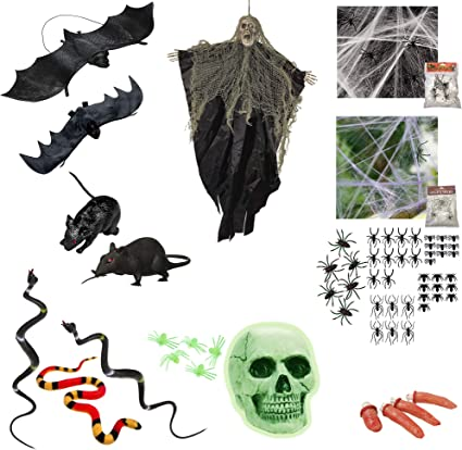 Halloween Glow In The Dark Spider Rings 4 Pack Childrens Party Favours
