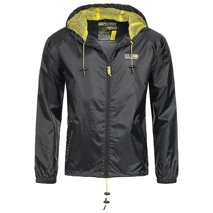 Geographical Norway Nijak Chaqueta para lluvia para hombre Outdoor Casual  con capucha  Amazon.es  Ropa y accesorios c89905cfddd