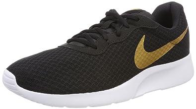 Nike Damen Tanjun Traillaufschuhe, Schwarz (Black/Metallic Gold 004), 42.5 EU