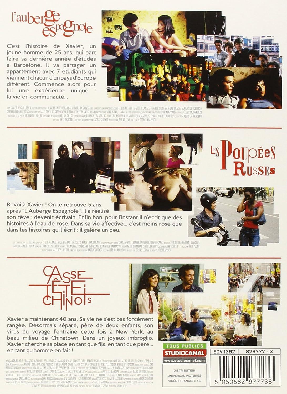 Connu Amazon.com: La Trilogie : L'auberge espagnole + Les poupées russes  TG55