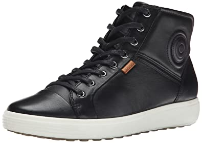 ECCO Footwear Womens Soft VII High Top Ankle Bootie, Black, 35 EU/4