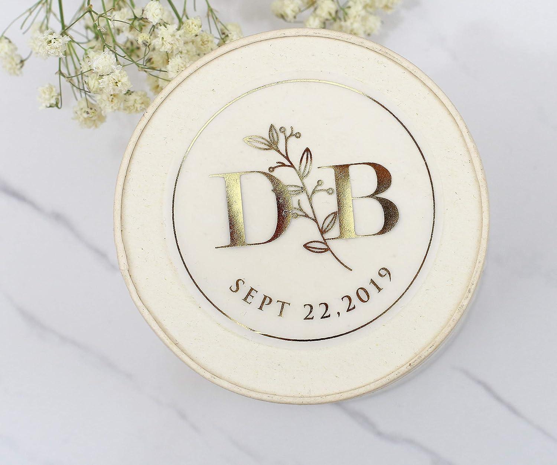 Rose Gold Gold Custom Wedding Labels Silver Wedding Labels Glossy Wedding Stickers for Favors Personalized Envelope Seals Transparent