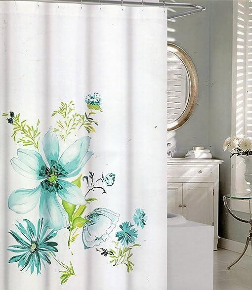 Amazon.com: Tahari Home Floral Bloom Aqua Blue and Pale Green Floral ...