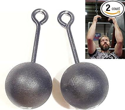 Grip Strength Training, 3-inch Hardwood Pull-Up Cannonballs - Ninja Warrior Climbing Holds & Crossfit Training, Set of 2