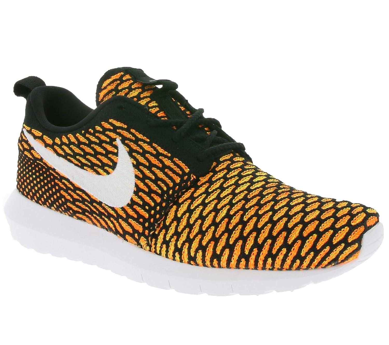 Nike Herren Mens Roshe NM Flyknit Shoe Gymnastik  41 EU|Black (Nero / Bianco-arancio-volt Totale)