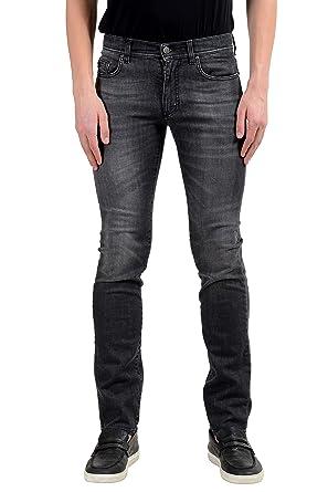 1318d35e Amazon.com: Versace Collection Slim Men's Gray Stretch Skinny Jeans ...