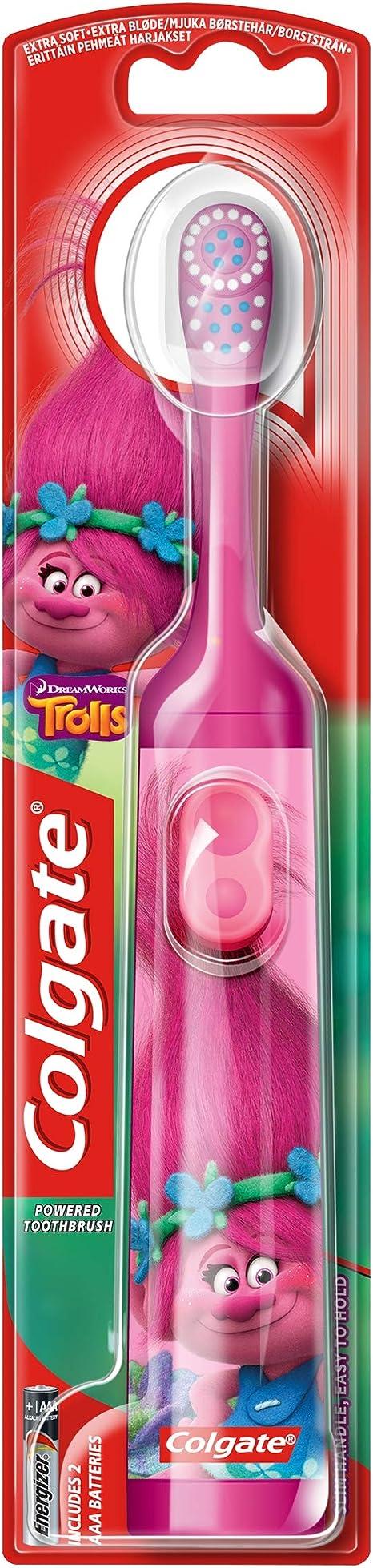 Colgate Kids Trolls Extra Soft Battery Toothbrush 3+ Years