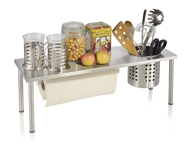 Zweistufiges Küchenregal aus Edelstahl mit ...