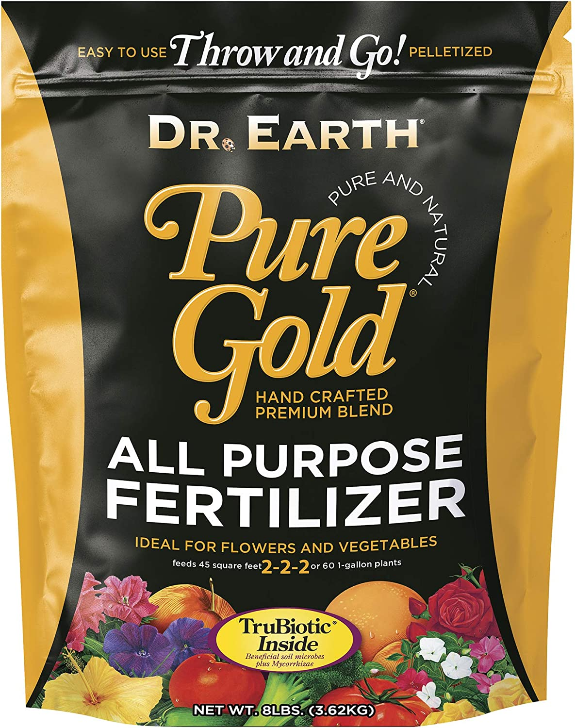Dr. Earth Pure Gold All Purpose Fertilizer 8lb