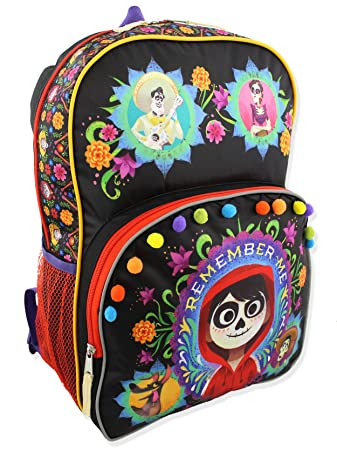 Amazon.com | Disney Coco Kids Backpack and Lunch Box School Set (One Size, Black/Multi) | Kids Backpacks