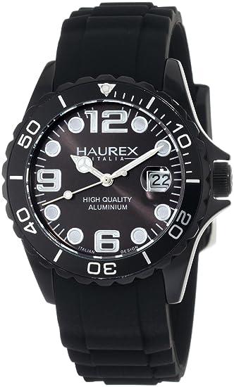 3f0d512f9ed1 Haurex Italy Ink - Reloj analógico de mujer de cuarzo con correa de  silicona negra  Amazon.es  Relojes