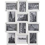 vonhaus 12 x decorative collage picture frames for multiple 4x6 photos white wooden hanging