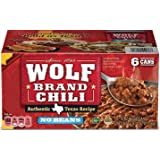 Wolf Brand, Chili with NO BEANS, Authentic Texas Recipe, 15oz Can (Pack of 6)