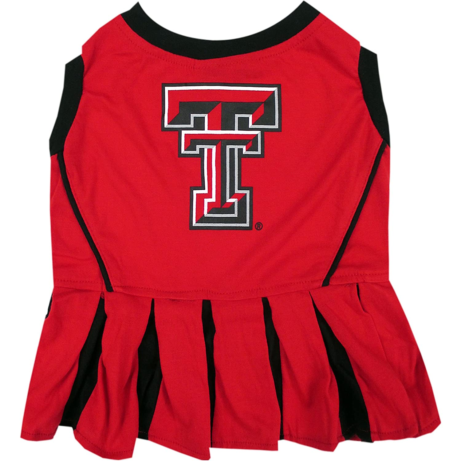 Pets First Texas Tech Raiders Cheerleading Outfit X-Small TT-4007-XS