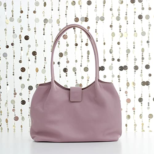 0993d972854e9 Amazon.com  Soft pink leather tote bag
