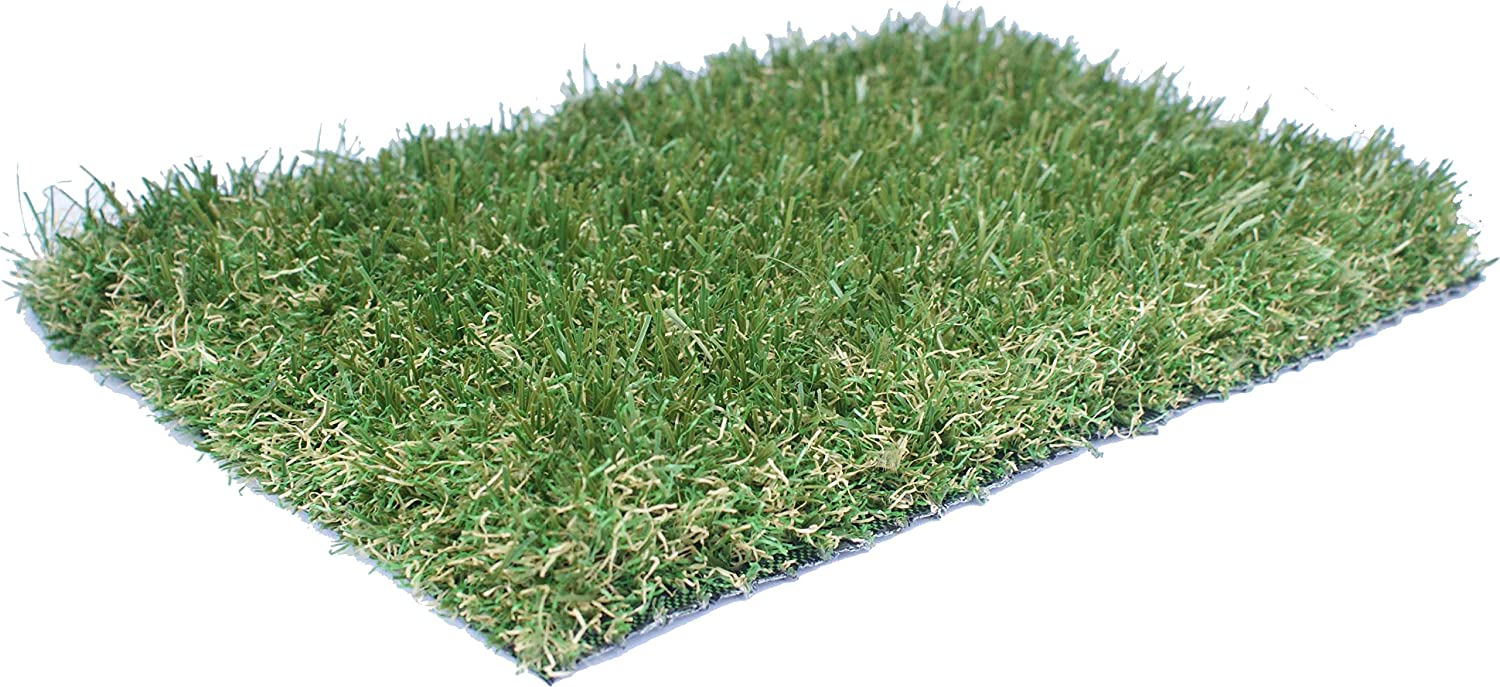 Artificial Grass Florence 35mm Pile Height   Sold per 50cm Choose 2m or 4m Wide   Quality EU Manufactured   High Density Fake Turf Green Landscaping Grass Garden (2m) AGD