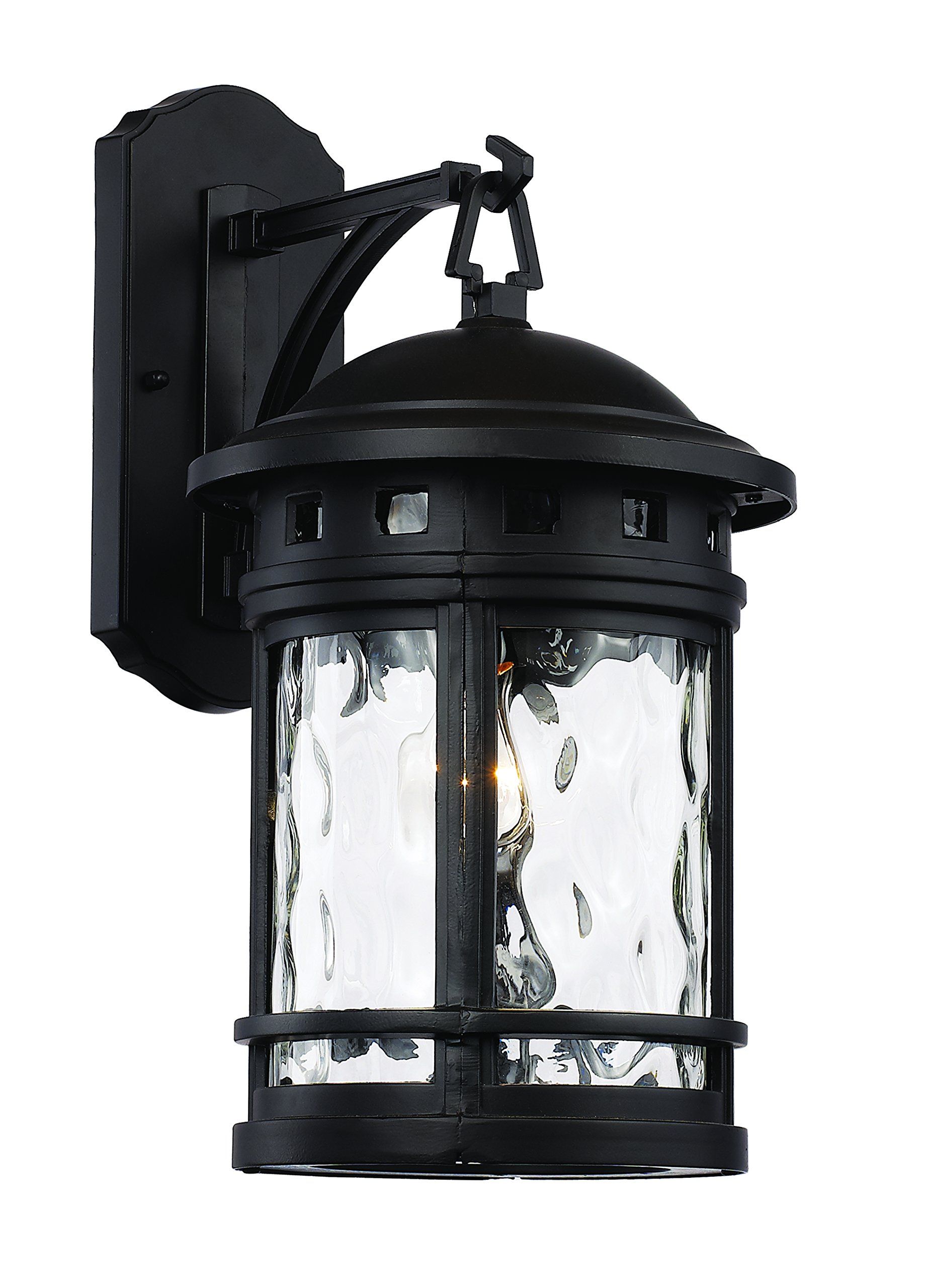 Trans Globe Lighting 40371 BK Outdoor Boardwalk 16.25'' Wall Lantern, Black