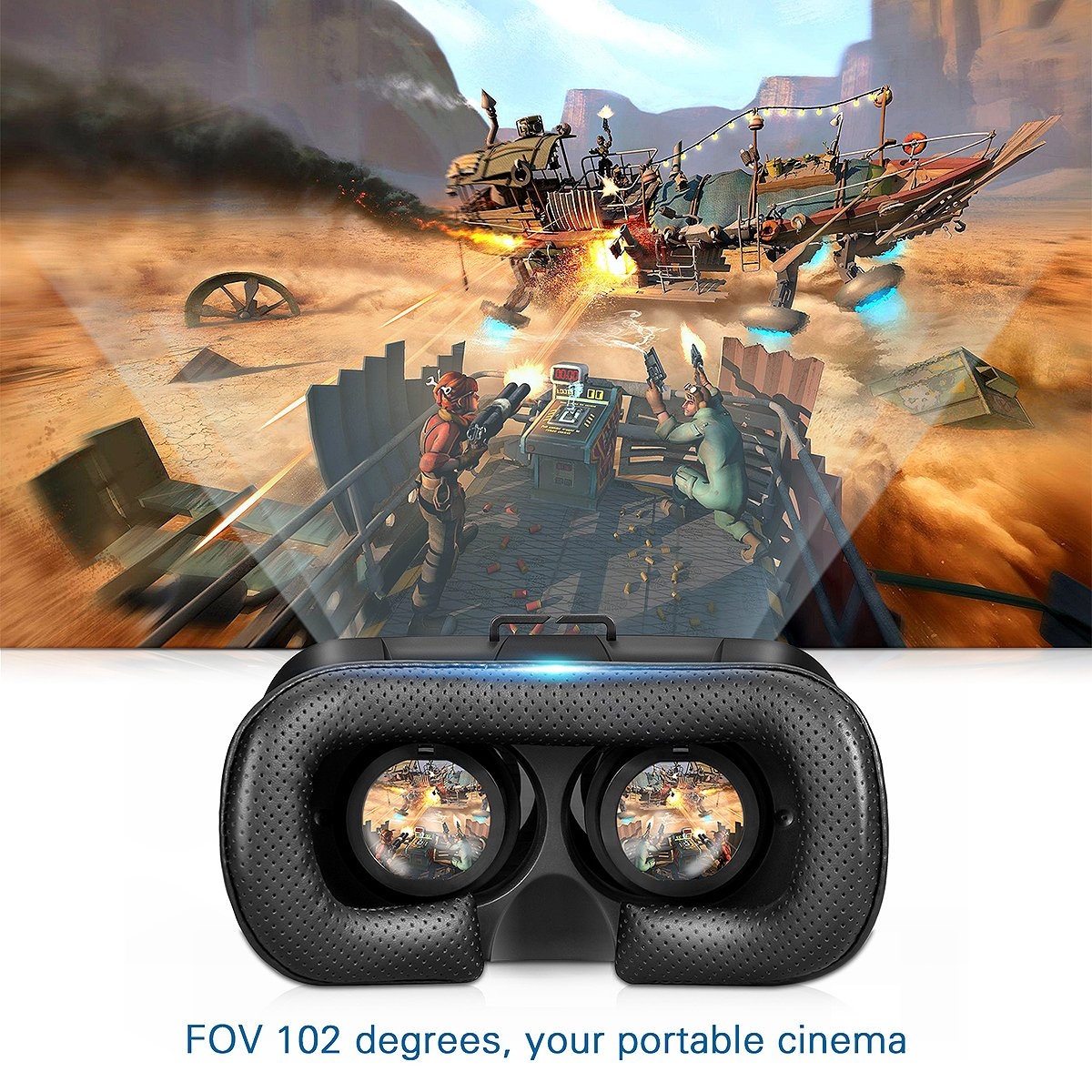 VR Headset, Canbor VR Goggles Virtual Reality Headset VR Glasses for 3D Video Movies Games for Apple iPhone, Samsung Huwei HTC More Smartphones by Canbor (Image #4)