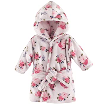 Clothing, Shoes & Accessories Little Me Baby Girl Pink Hooded Terry Robe Sz 0-9 Mos