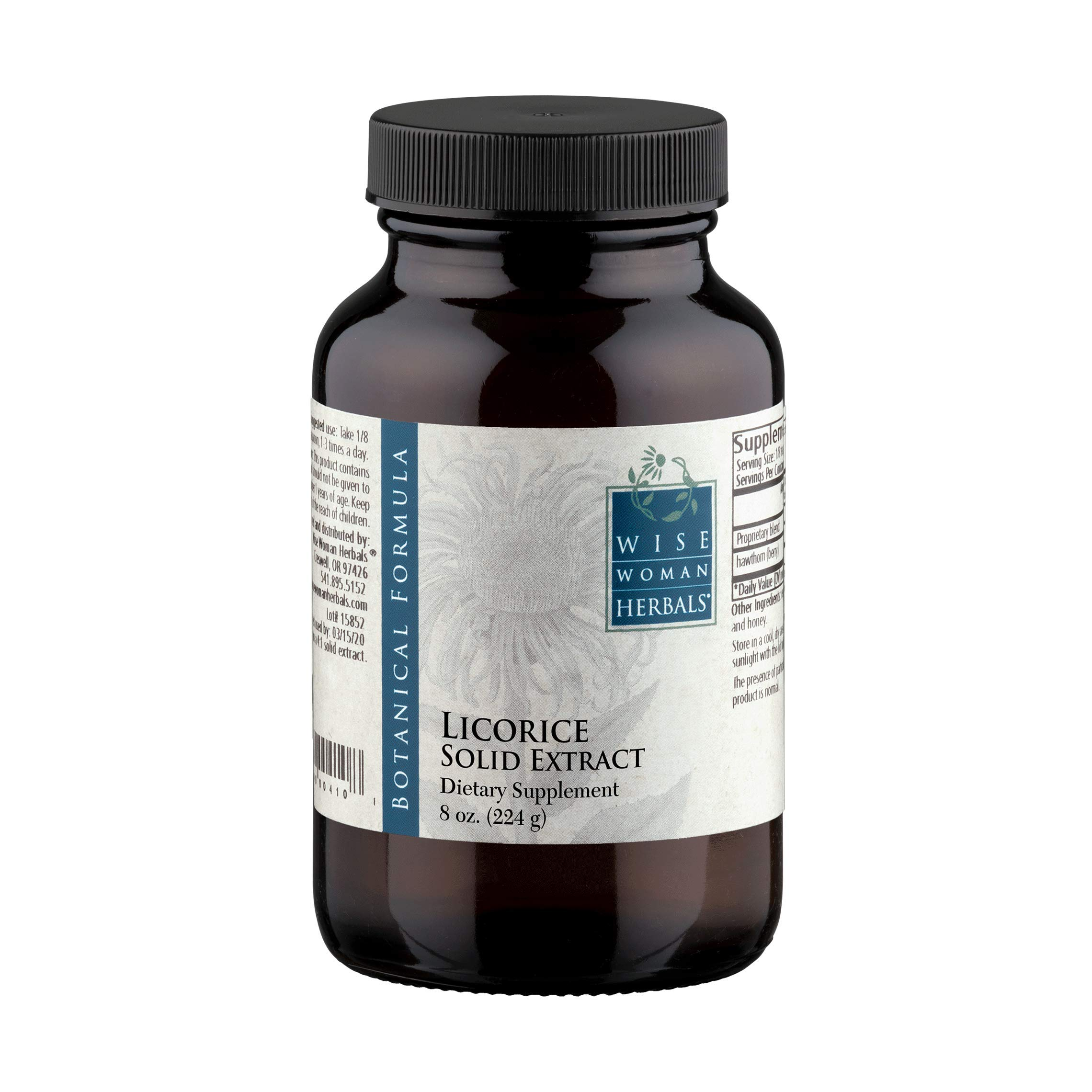 Wise Woman Herbals – Licorice Solid Extract – 8 oz - for Immune Support - Promotes Normal Healthy Liver and Adrenal Gland Function – Supports Digestive Health, Upset Stomach and Indigestion by Wise Woman Herbals (Image #1)