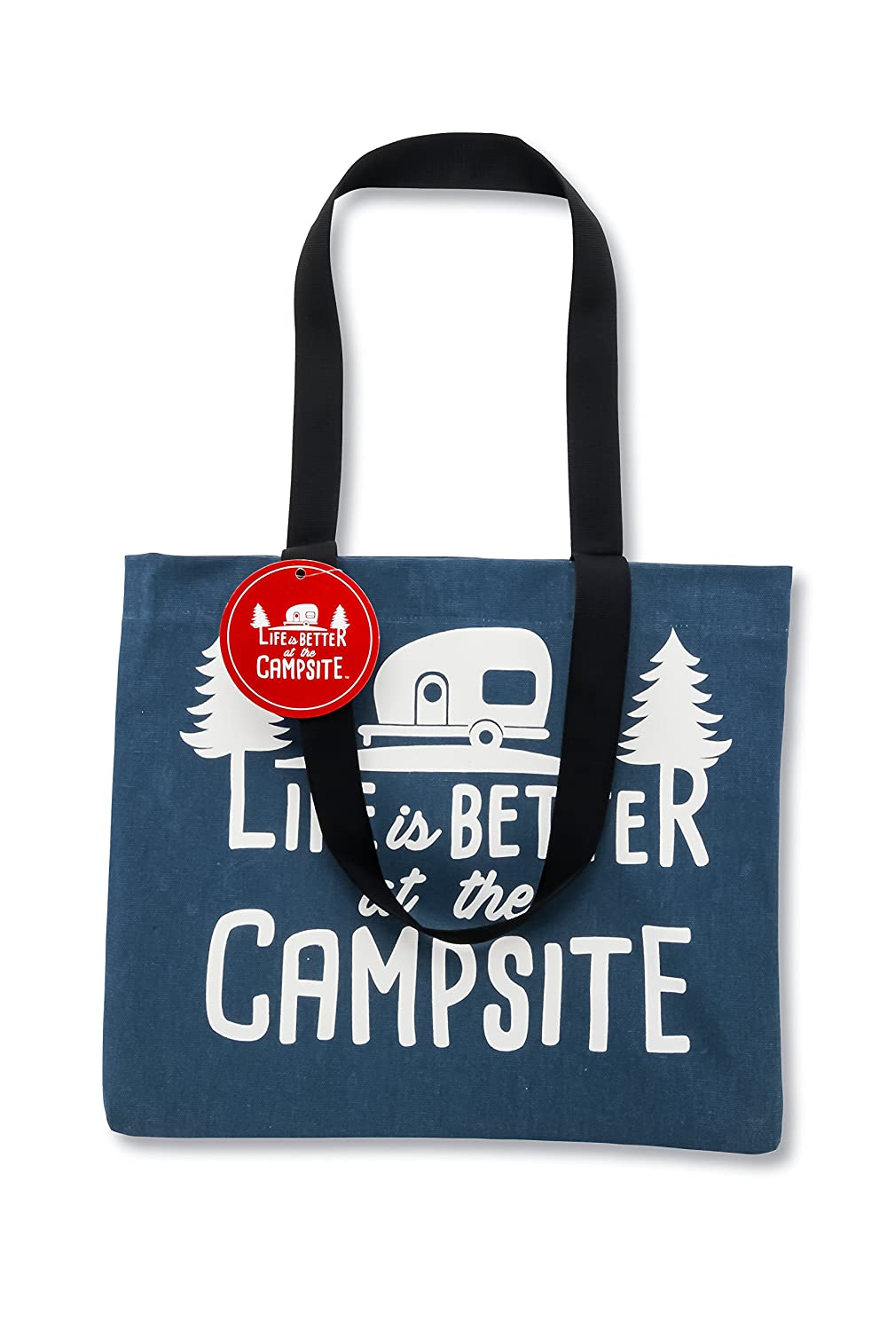Camco Life Is Better At TheもOKキャンバストートバッグwith Magnetic Closure – Perfect As A Reusable Grocery Bag、ビーチバッグ、およびその他メーカーRV印刷デザイン(53203 B07C8XWSXM