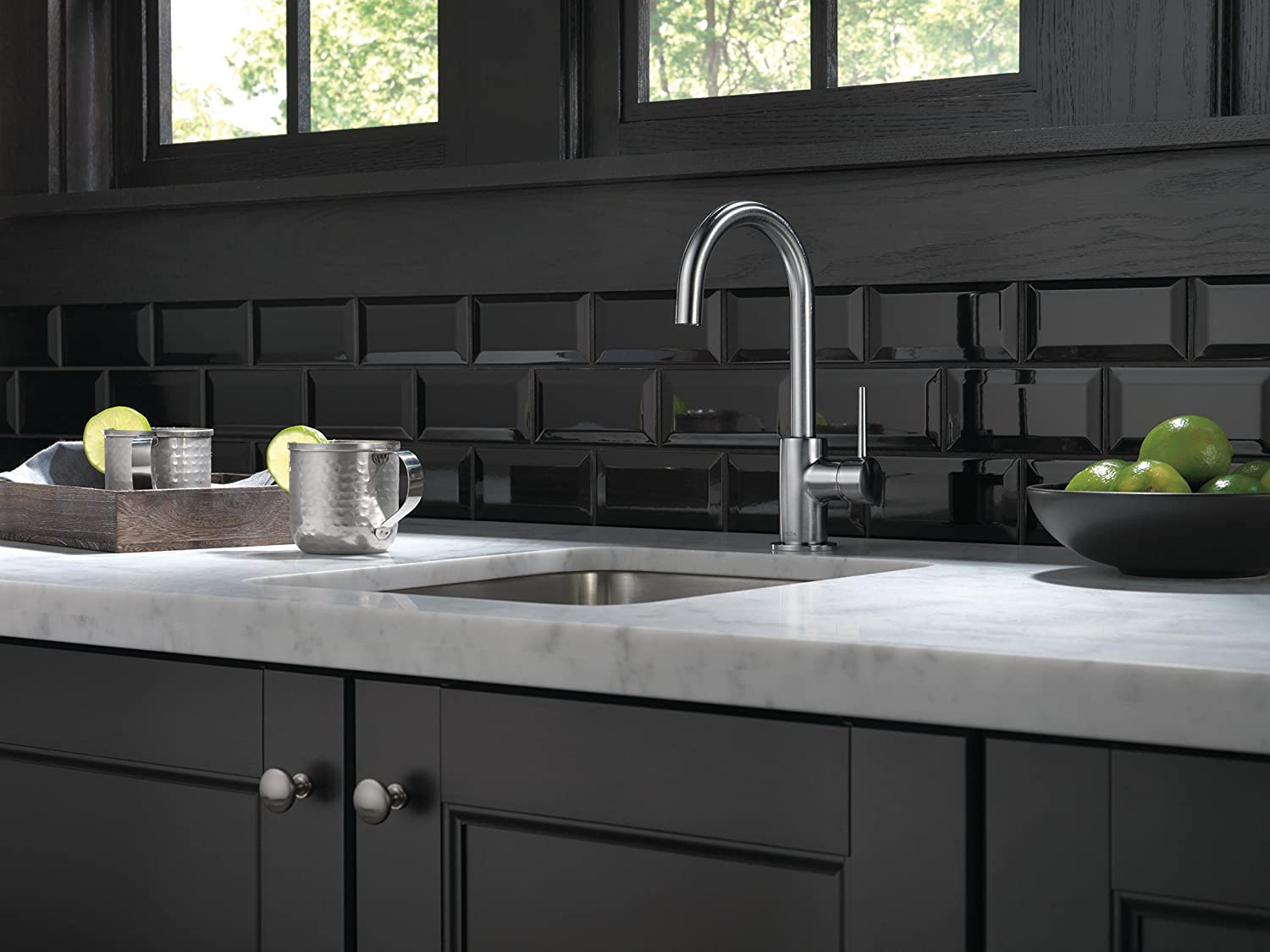 Delta 1959LF-AR Trinsic Single-Handle Bar Faucet, Arctic Stainless ...