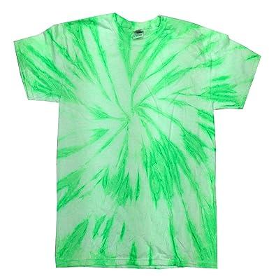 9b53e4baf5358 Amazon.com  Colortone Tie Dye Twist Neon T-Shirt Kids   Adult up to ...