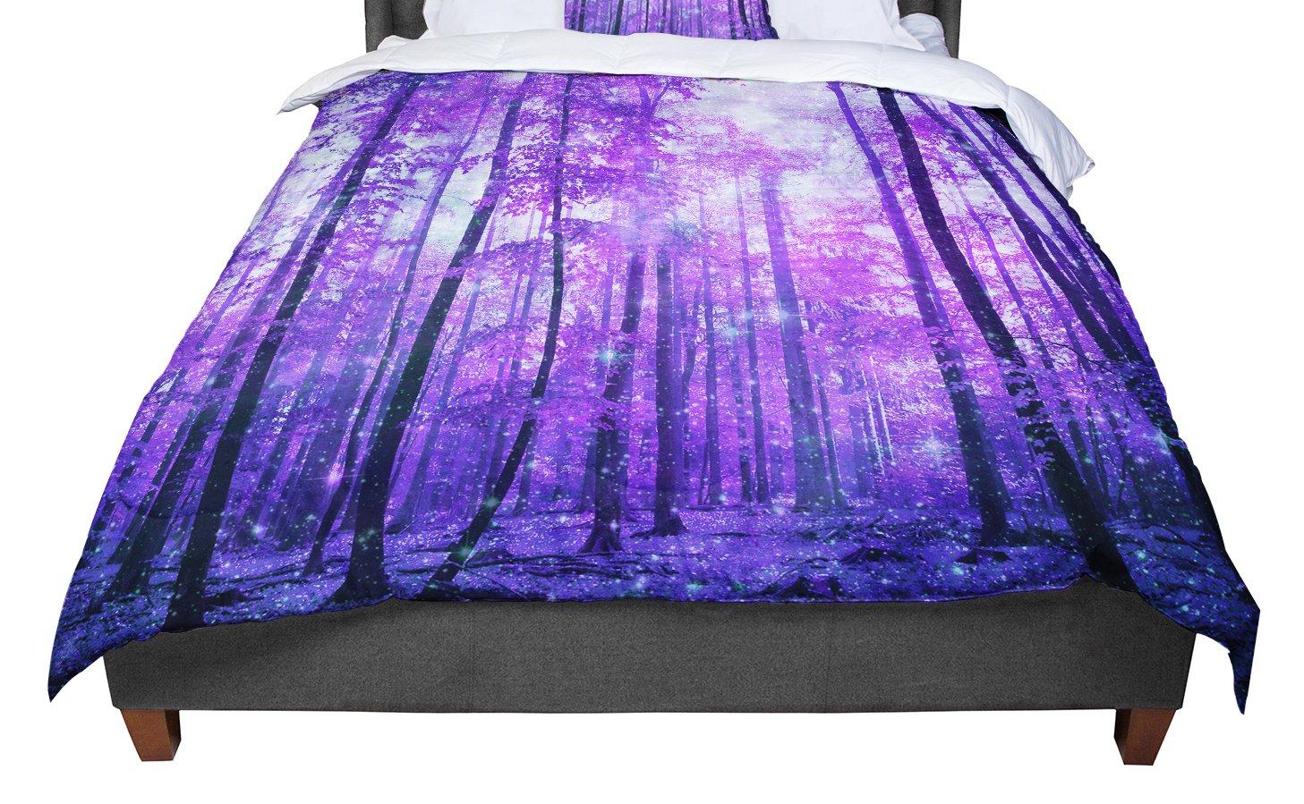 68 X 88 KESS InHouse Iris Lehnhardt Magic Woods Purple Forest Twin Comforter