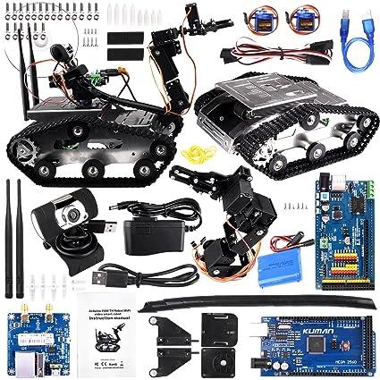 Amazon Com Kuman Wireless Wifi Manipulator Robot Car Kit For