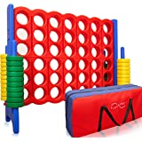 Jumbo 4-to-Score Giant Game Set, with Storage Carry Bag Included   Life Size Connect-All-Four Game   4 in A Row for Kids and