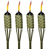 TIKI Brand 57-Inch Luau Bamboo Torches - 4 pack