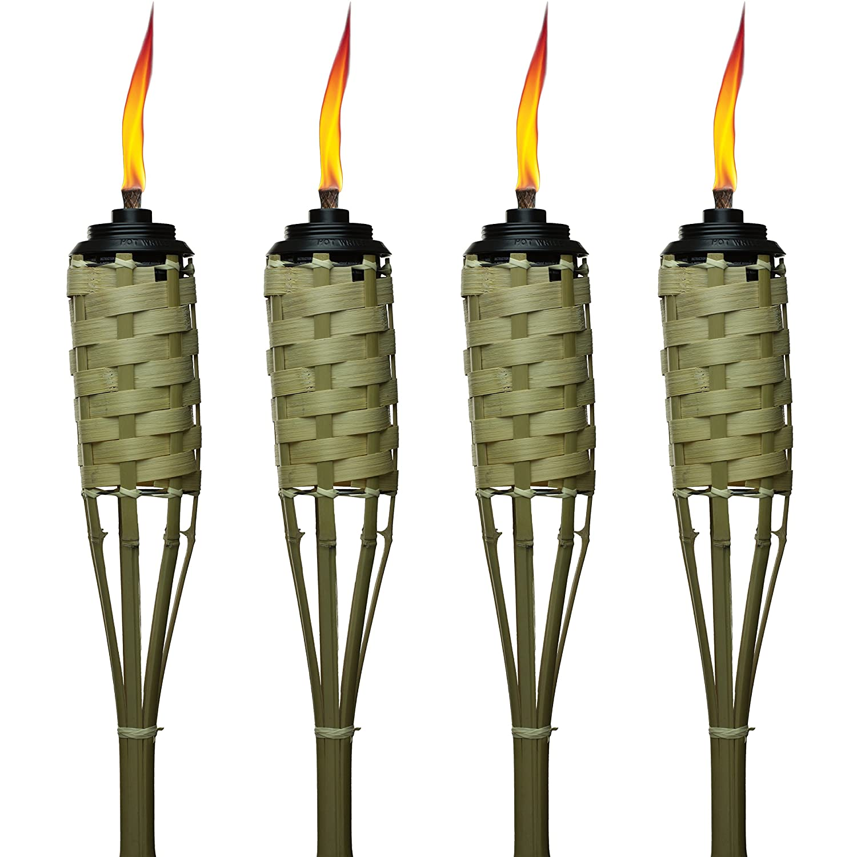 best website ba556 c38e1 TIKI Brand 57-Inch Luau Bamboo Torches - 4 pack