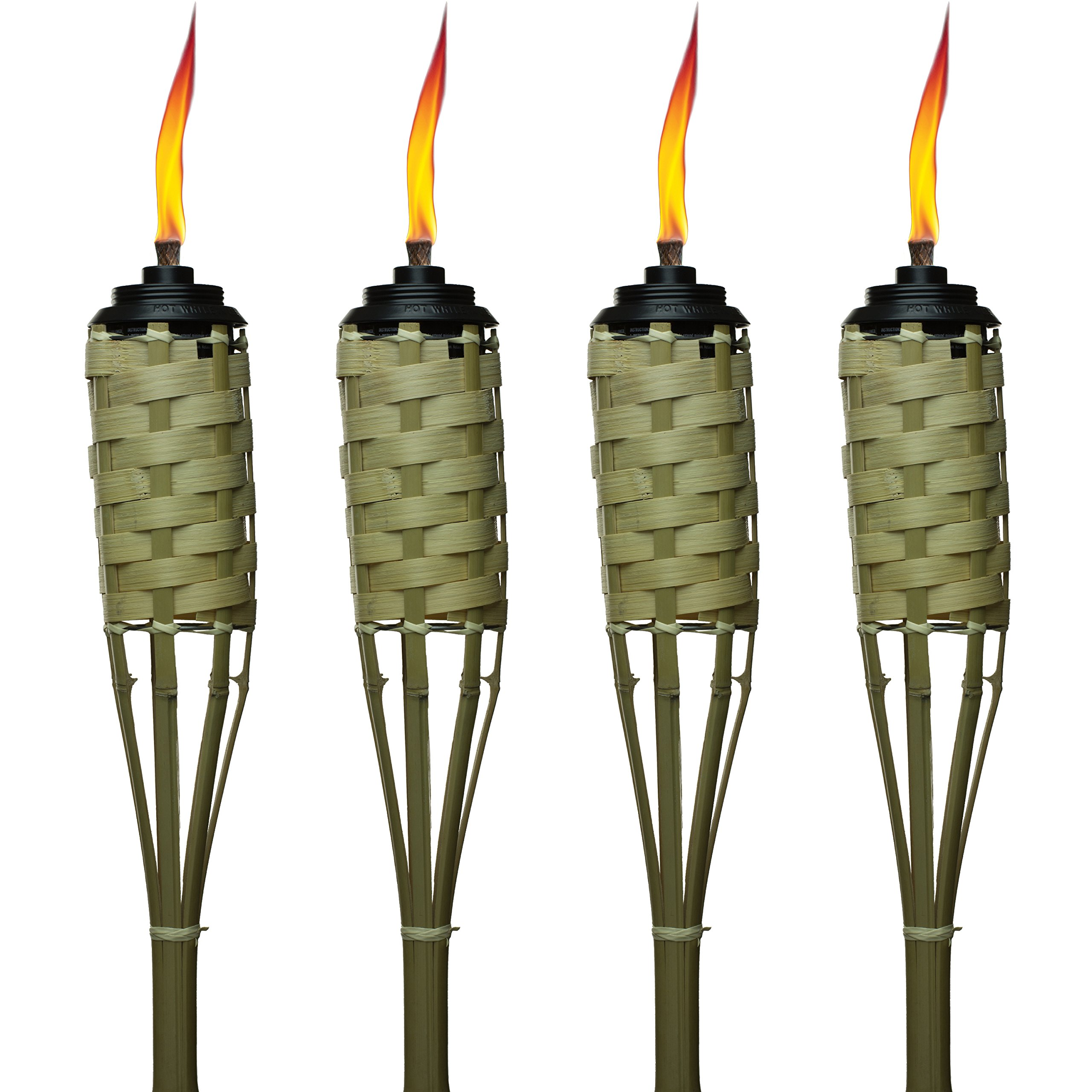 TIKI Brand 57-Inch Luau Bamboo Torches - 4 pack by Tiki