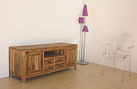 Mobile porta Tv in legno NATURALE Teak massello, stile moderno ...