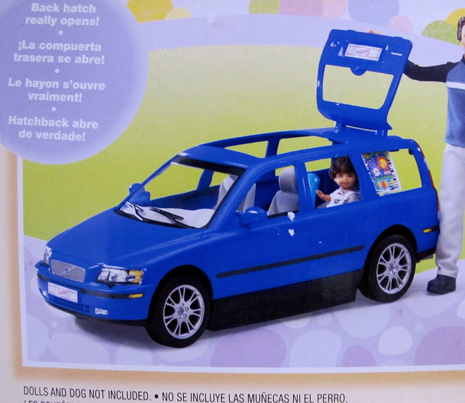 Amazon BARBIE Happy Family VOLVO V70 Vehicle VAN SUV W 2 CAR SEATS HATCH BACK Opens Closes More 2002 DARK BLUE Toys Games