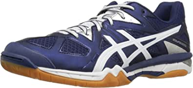 ASICS Women's Gel-Tactic Volleyball Shoe Estate Blue/White/Silver 13 M US
