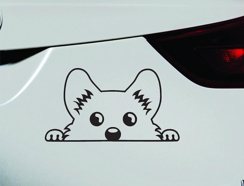 Amazon corgi peeking dog symbol decal funny car truck sticker amazon corgi peeking dog symbol decal funny car truck sticker window black automotive biocorpaavc
