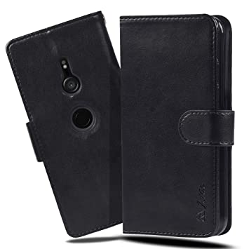395f489b72 Xperia XZ3 ケース 手帳型 スマホケース 横置き機能 XZ3 ケース Arae カードポケット付き ソニー