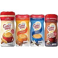 Coffee Mate Powdered Creamer Variety 4 Pk, 1 of each of the following: Original, Hazelnut, French Vanilla, Vanilla…