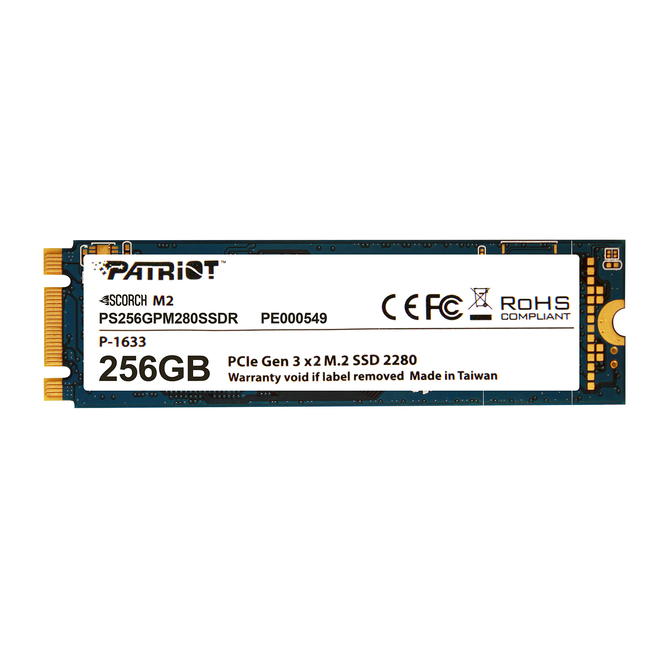 Patriot Scorch 256GB NVMe M.2 PCIe Solid State Drive Up to 1700MB/s Read Transfer Speeds