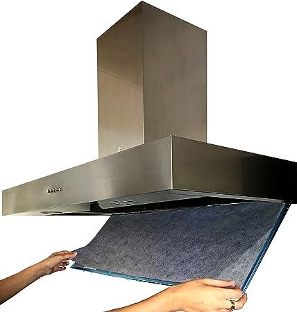Filtro Universal para Campanas Extractoras con CARBÓN ACTIVO. 2 piezas 57x47 Centímetros, Adaptables. Anti-olor en Fibra Autoextinguible y Carbón Activo.: Amazon.es: Hogar