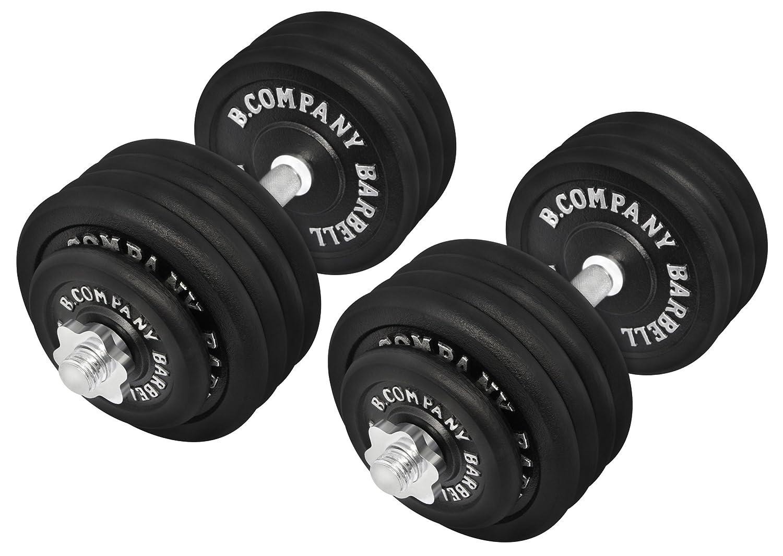 BAD Juego de Pesas Cortas 95 kg (2 Barras Cortas de 45 cm, 4 x 2,5 ...