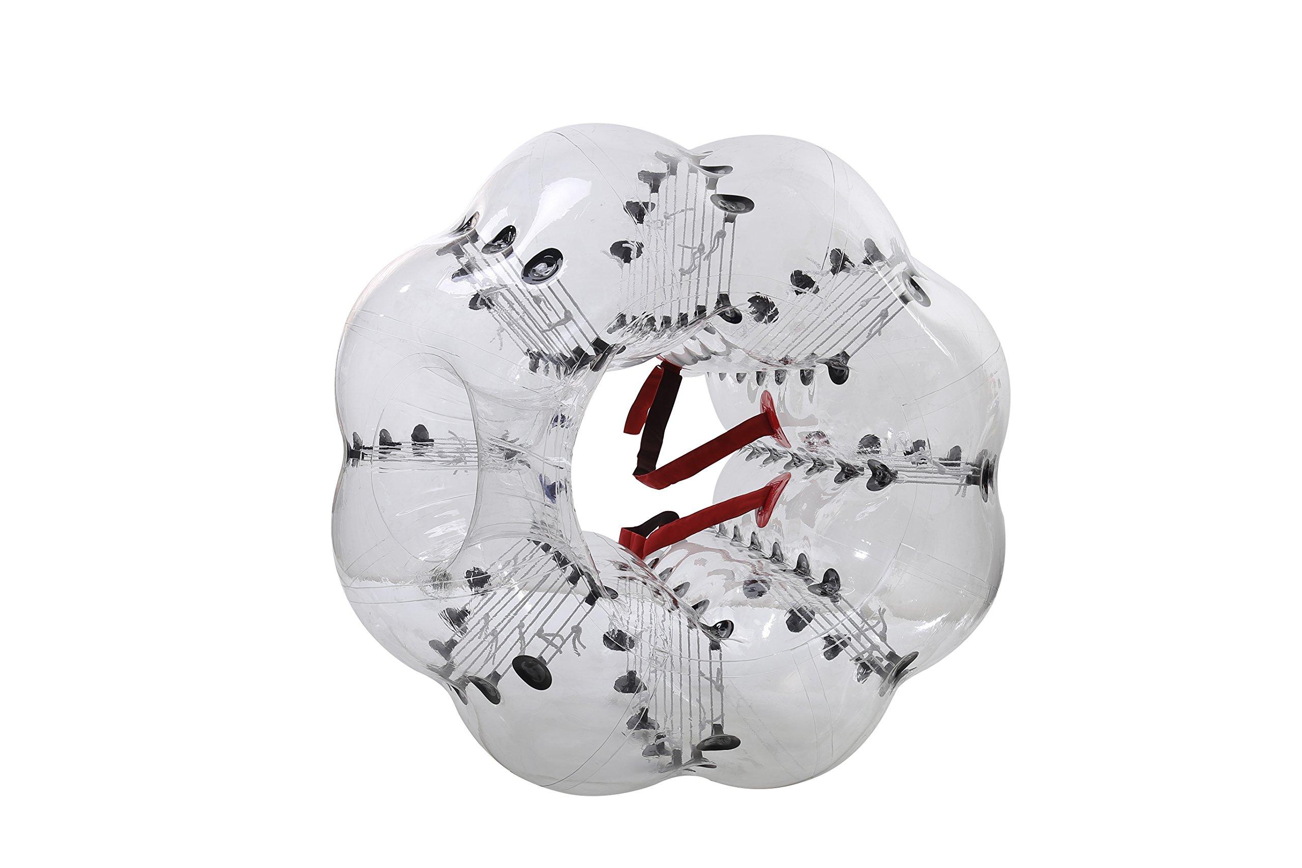 Bubble Soccer Balls Dia 5' (1.5m) Human Hamster Ball, Bubble Football,Bumper Ball, Zorbing Ball, Knocker Ball, smash ball stress ball Loopy Ball ( New Black Dot) by Garybank (Image #4)