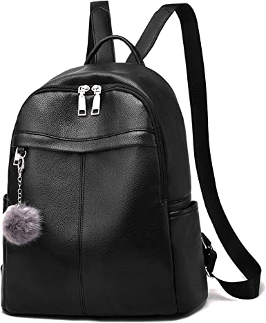 Red DASEIN Vegan Leather Medium Backpack Purse Leather Dayback for Women